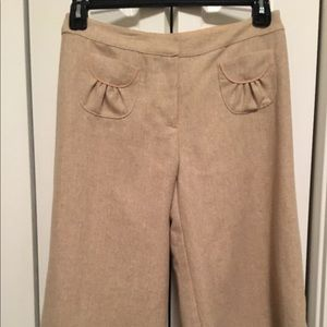 Tabitha Anthropologie Neutral Wide Leg Culottes 6